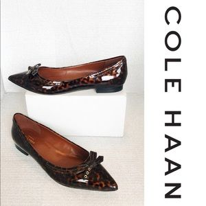 NWT COLE HAAN Signature Leopard Patented Flats